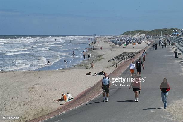 StrandPromenade Ostfriesische NordseeInsel Norderney Niedersachsen Deutschland Europa Reise BB DIG PNr 1553/2007
