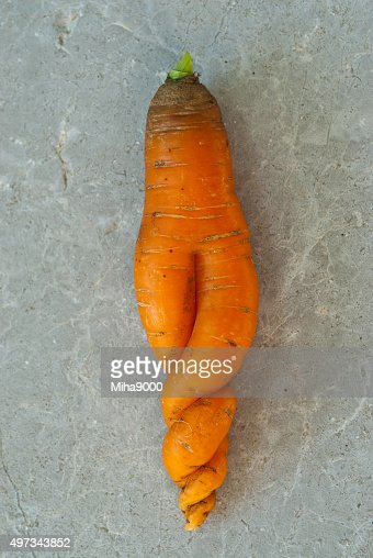 strange carrot : Stock Photo