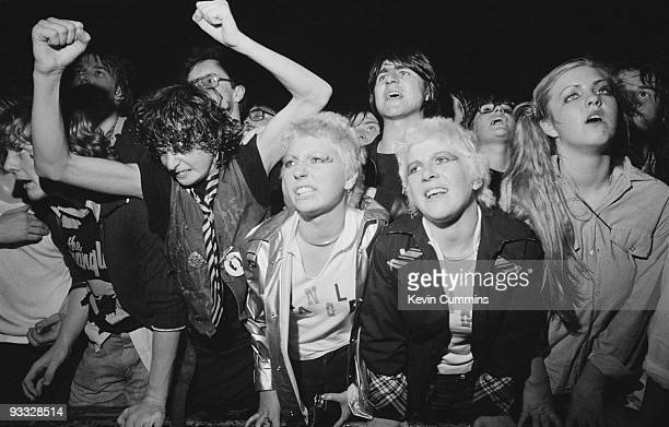 Stranglers fans in the front row at the Apollo in Manchester on October 13 1977