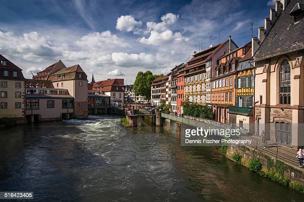 Strasbourg city canals in summer