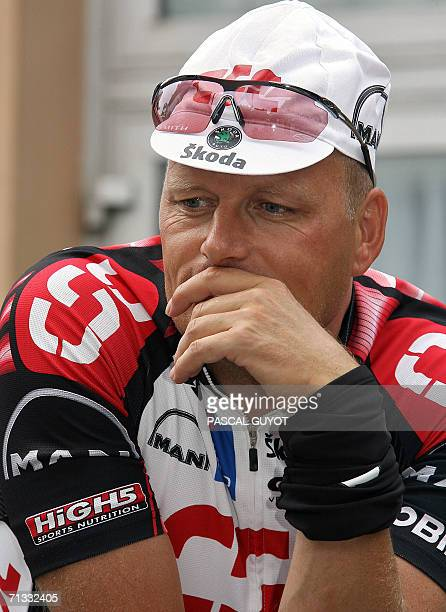 Portrait of Danish CSC Team Manager Bjarne Riis taken before a training session with his riders two days before the official start of the 93rd Tour...