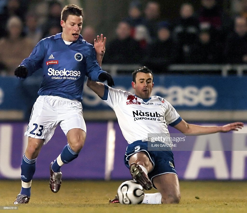 Striker Kevin Gameiro L from Strasbour
