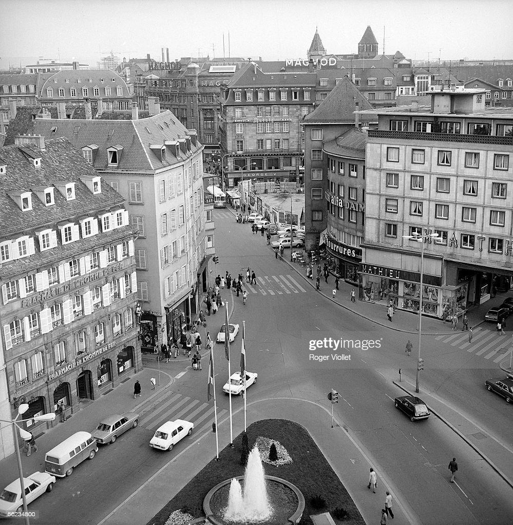 Strasbourg (Bas-Rhin). The Homme-de-Fer place. 1975.