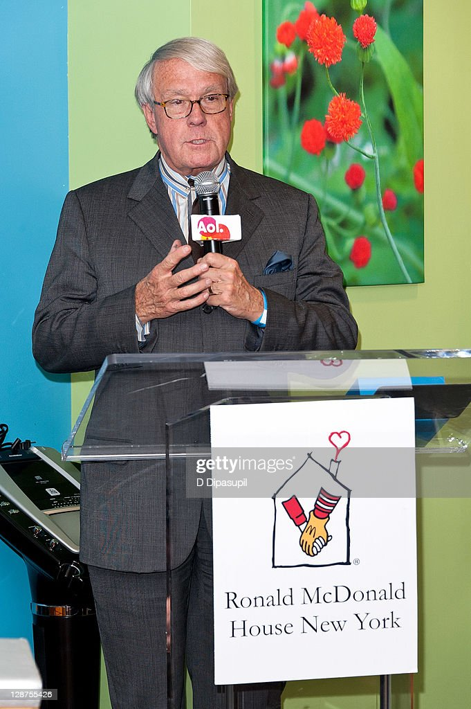 Strategic Advisor David Bell speaks at the unveiling of the AOL Media Room at the Ronald McDonald House on October 7, 2011 in New York City.