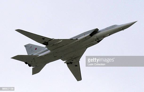Strategic bomber TU22M Backfire Russian military forces train for the Victory Day parade that will take place on 9 May 2010 marking the 65th...