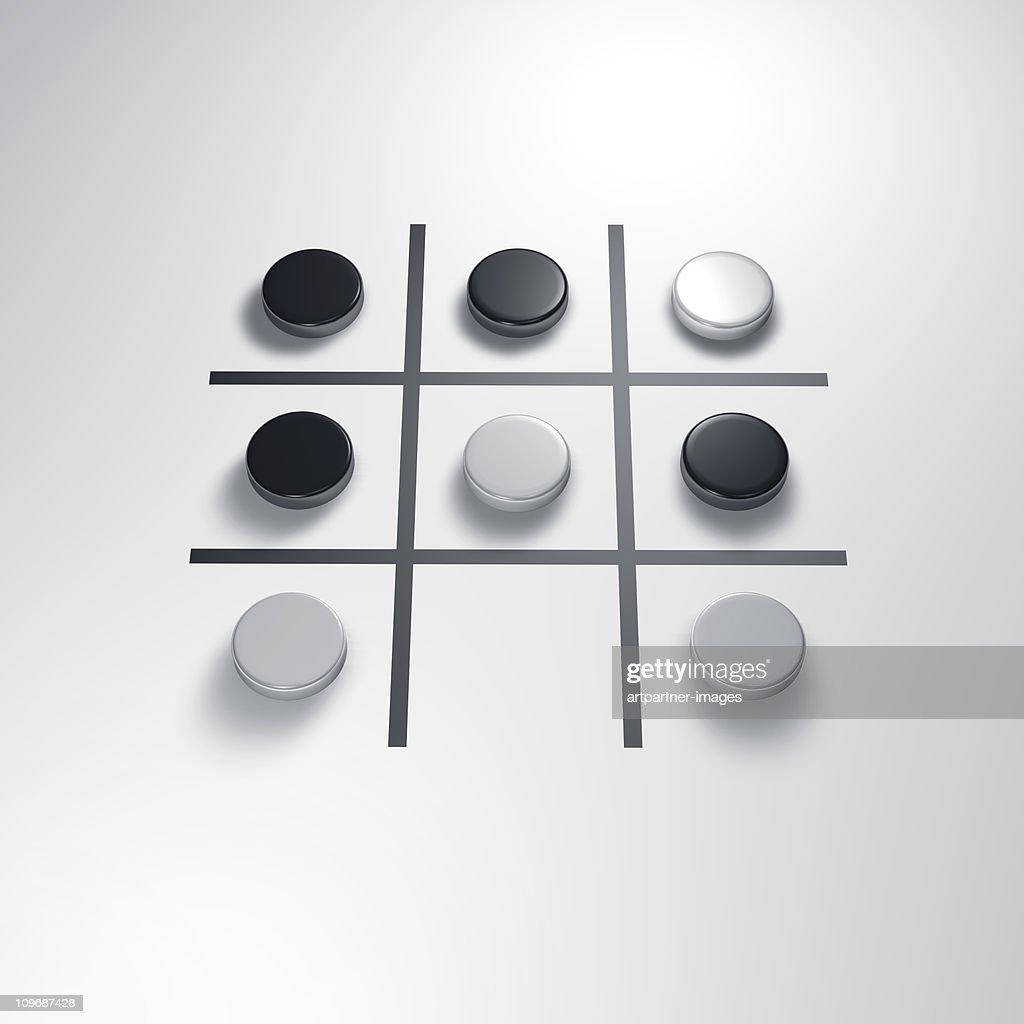 Strategic Game Tic Tac Toe : Stock Photo