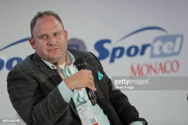Strategic Partner Development Sports Media Content Facebook Rob Shaw speaks during an interview at SPORTEL Monaco 2017 at the Grimaldi Forum on...