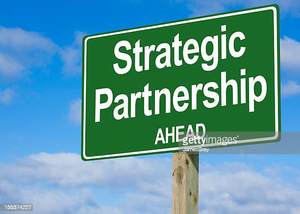 Strategic Partnership Ahead Highway Sign