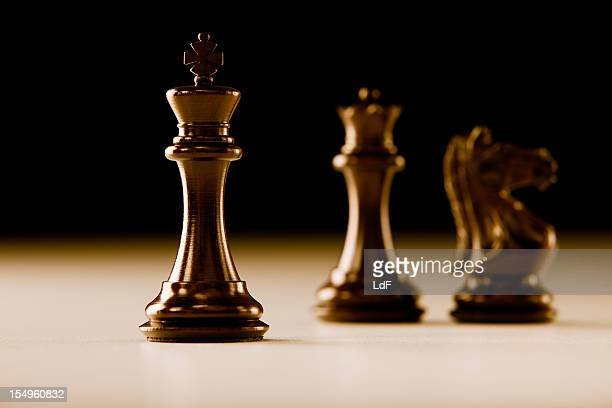 Strategy concept with chess pieces