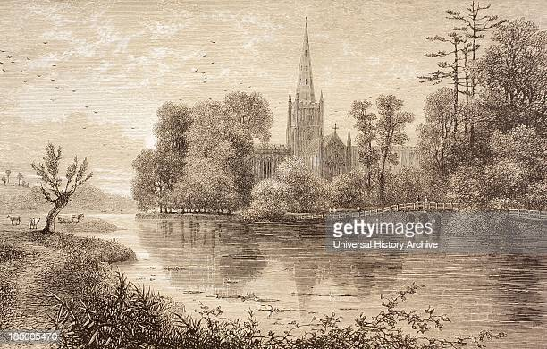 StratfordUponAvon England In The 19Th Century Birthplace Of William Shakespeare From The Illustrated Library Shakspeare Published London 1890