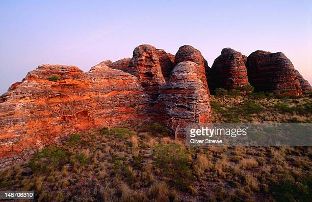 Stratified rock formations, Bungle Bungles.