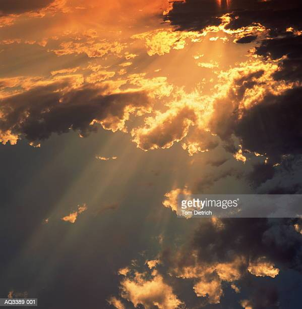 Stratocumulus clouds and sky at sunset