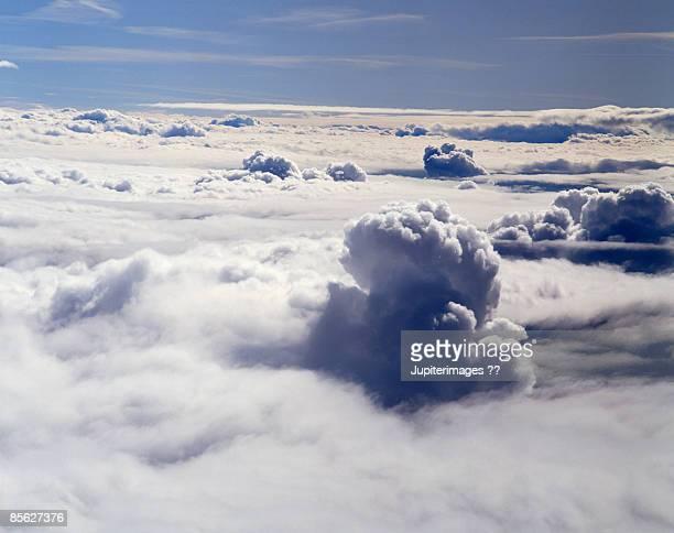 Stratocumulus clouds in sky