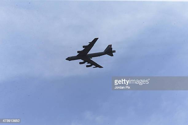 Stratofortress arrives to participate in the final counter attack at Jordanian exercises with 18 nations including the US as part of Eager Lion on...