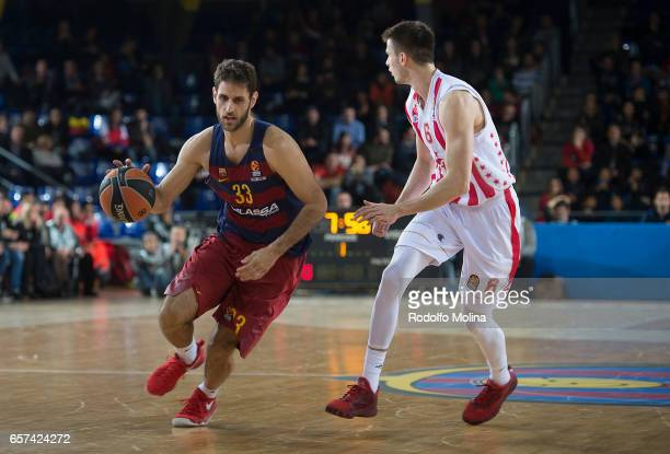 Stratos Perperoglou #33 of FC Barcelona Lassa in action during the 2016/2017 Turkish Airlines EuroLeague Regular Season Round 28 game between FC...