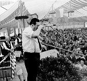 Strauss Franz Josef Politician CSU Germany minister of finance speech during the 'Oktoberfest' in Munich 1969