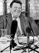 Strauss Franz Josef Politiker CSU D bei einer Pressekonferenz November 1978