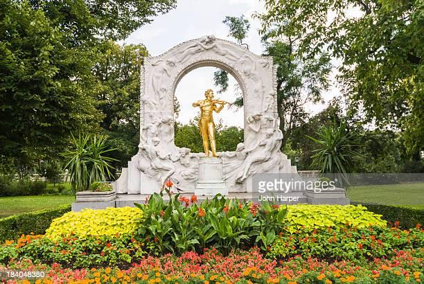 Strauss monument in Stadt park, Vienna, Austria.