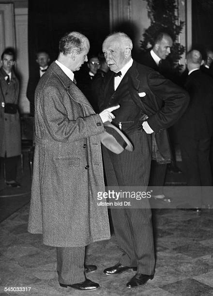 Strauss Richard*11061864 Composer Germanyand conductor Wilhelm Furtwaengler at the opening of then Reichskulturkammer Photographer The New York Times...