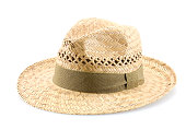 straw hat iolated on white background