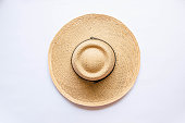 Straw hat taken from the bird's-eye view