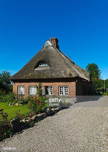 Straw Roof Housre in Schleswig Holstein at the Schlei