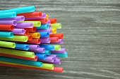straw straws plastic drinking background colourful  full screen single use pollution copy space