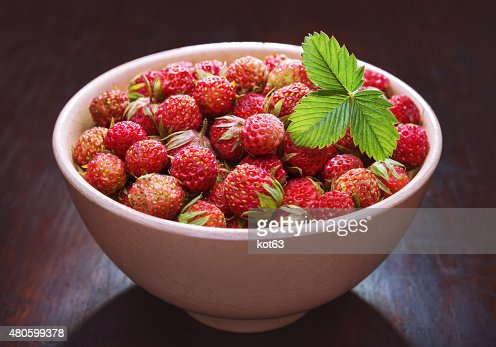 strawberries in a bowl : Stock Photo