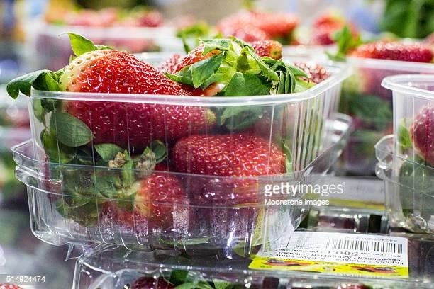 Strawberries in Borough Market, London