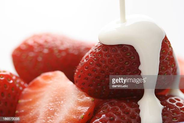 Strawberries in cream