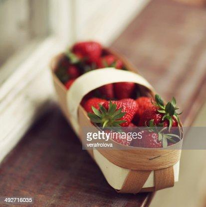 Strawberries in fruit carton