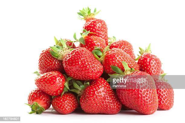 Erdbeeren auf Weiß