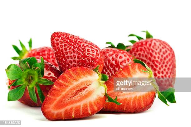 Strawberries on White