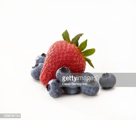 Strawberry and Blueberries : Stock Photo