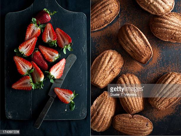 Strawberry and madeleines