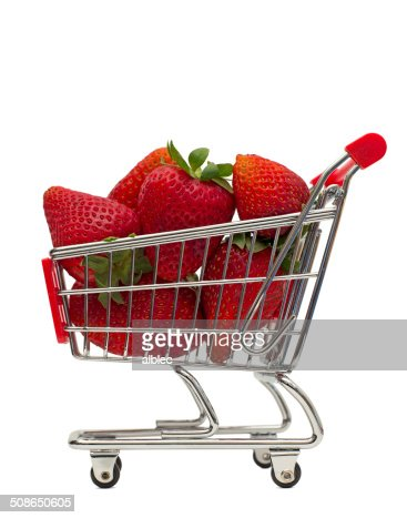 strawberry basket : Stock Photo