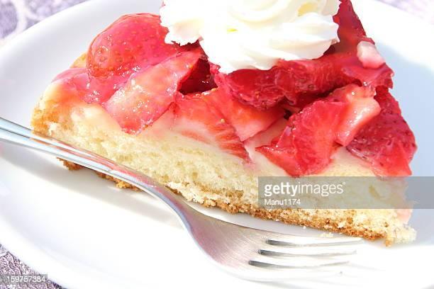 Gâteau aux fraises et crème