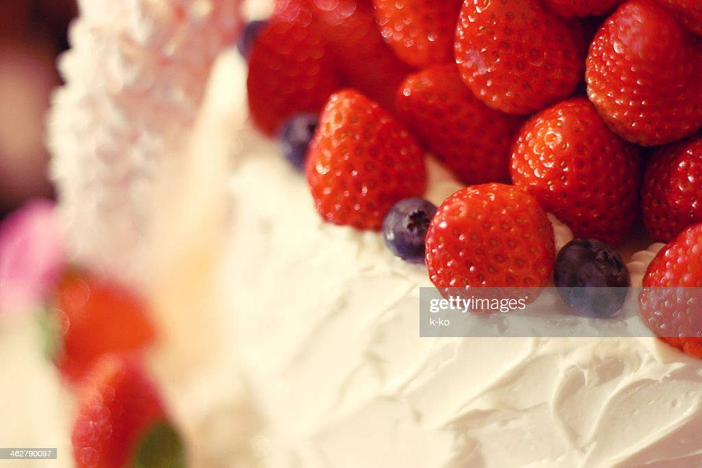 Strawberry cake : Stock Photo