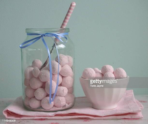 Strawberry candy jar
