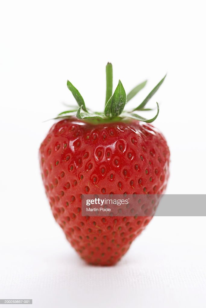 Strawberry, close-up : Stock Photo