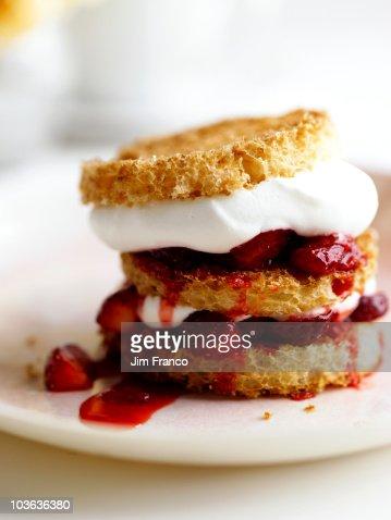 strawberry dessert : Stock Photo