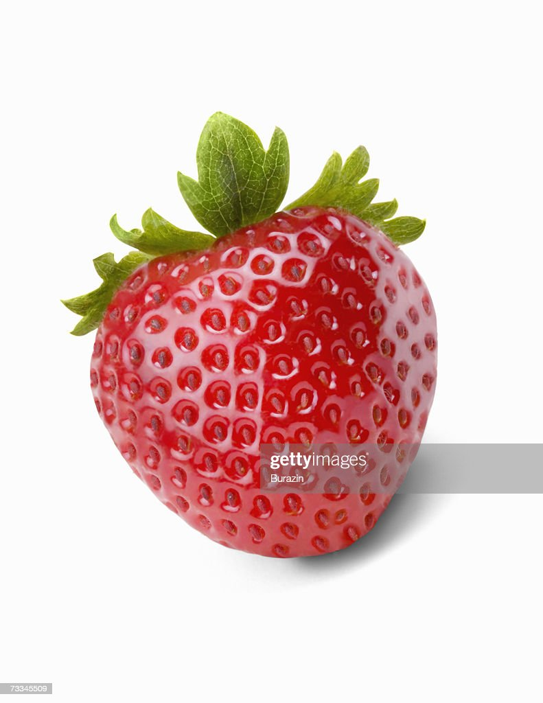 Strawberry, front view : Stock Photo