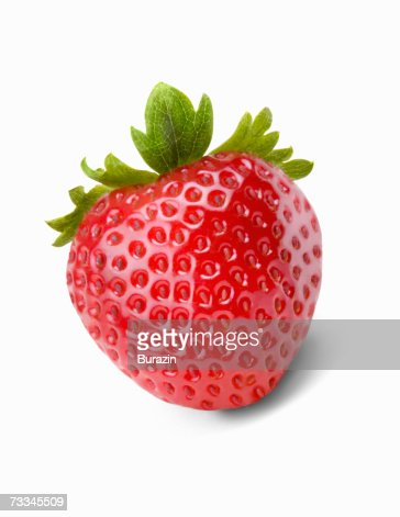 Strawberry, front view : Foto de stock
