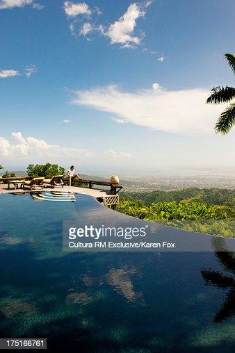 Strawberry Hill resort overlooking Harbour of Kingston, Jamaica