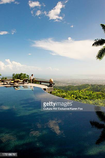 Strawberry Hill resort overlooking Harbour of Kingston, Jamaica