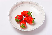 Strawberry in plate