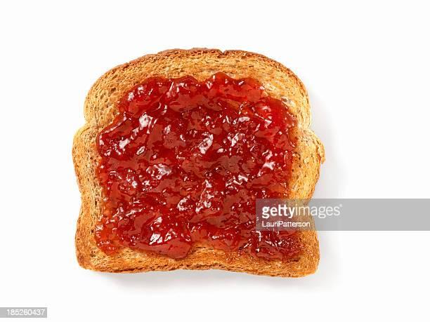 Marmellata di fragole al pane tostato