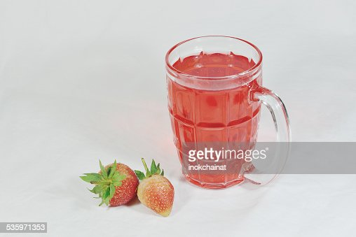 Strawberry Juice : Stock Photo
