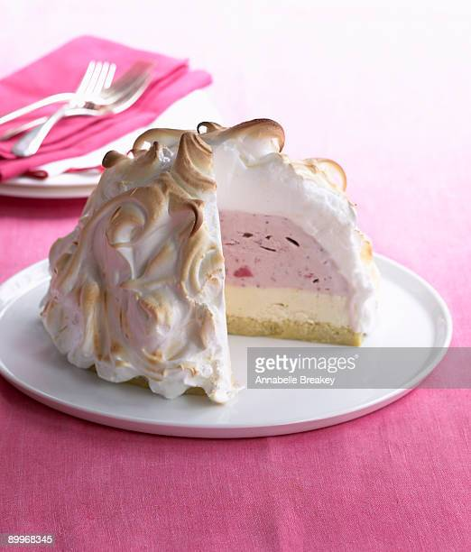 Strawberry Lemon Baked Alaska Dessert