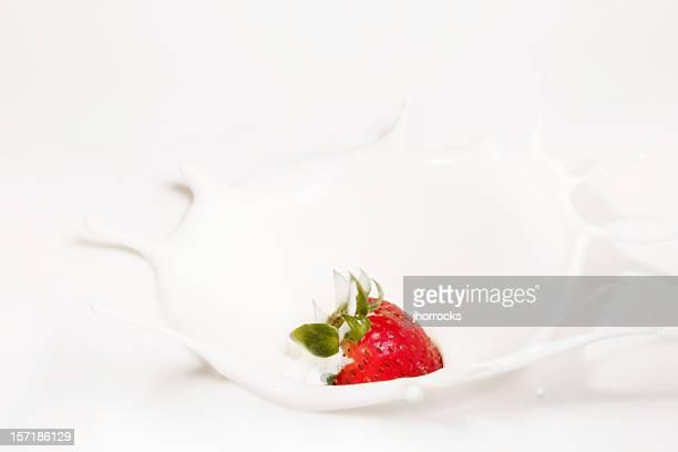 Strawberry Making A Splash